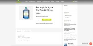 venta de agua purificada