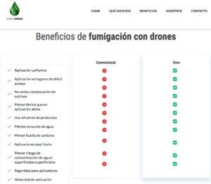 Servicios de fumigación con drones
